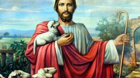 Jésus Christ avec agneau
